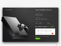 Xbox One checkout concept ui