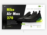 Nike Air Max 270 Product page All Black