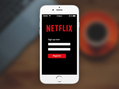 Daily Ui - #001 Signup Done sindin appdesign design apple iphone iphone6 netflix signup 001 dailyui