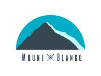 08/50 Ski mountain logo Mount Blanco
