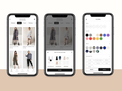 🥻 Style Theory - Product List Page and Filter ios app product lists page product list page fashion fashion web product card product figma visual design ecommerce e-commerce rent app rent fashion app luxury app luxury app affordance signifier clean