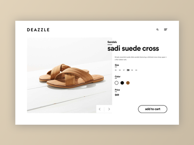Deazzle Shoe - Product Details white clean website clean website minimalist minimalist website fashion shoes medan indonesia fashion industry landing page