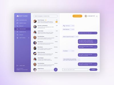 Dashboard Message - Auto Respond auto respond state design saas gradient app dashboard message messaging ui ux responsive
