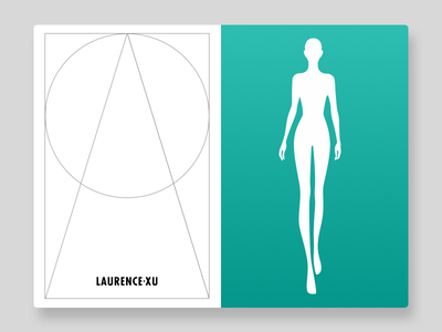 Female Size Char model page illustration chart size female layout