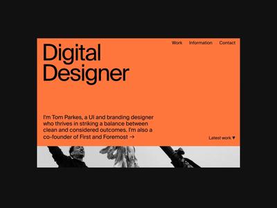 New portfolio live at tparkes.com webflow suisse typography landing page portfolio website