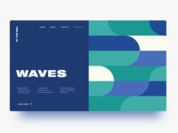 Waves Landing Page Composition 🌊