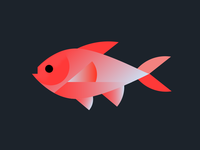 Neon Red Fish