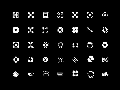 WLTH Icon Exploration icon exploration iconset grid w letter logo flowers abstract art challenger bank bank finance icons logos