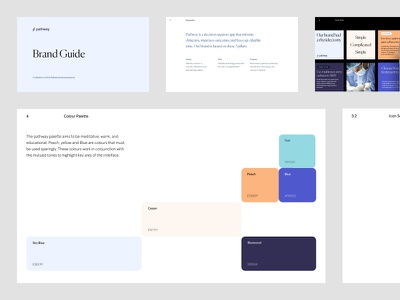Pathway - Style Book typogaphy clean color pallet colour brand guide brand identity branding brand