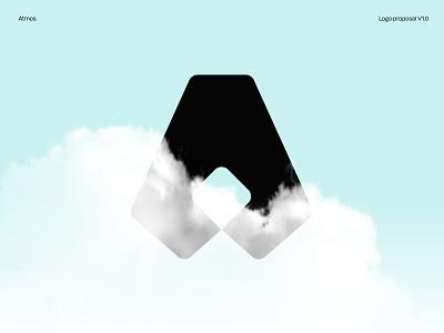 Atmos Information Security Logo black branding vector design typography shapes logo design clouds mark logo