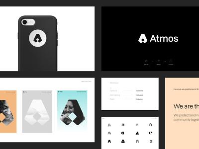 Atmos Brand Proposal styleguide branding design flat design shapes minimal typography branding