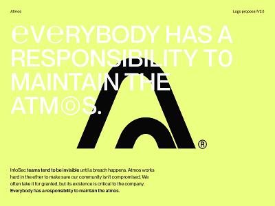 Atmos Alternative Exploration vector branding landing shapes minimal typography typogaphy logo yellow