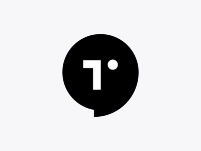 T+ face + chat bubble mark design monogram icon minimal symbol mark logo head human face t chat bubble chat