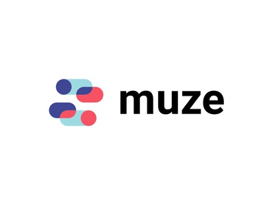 Muze logo design chat app overlap swipe chat bubble chat vector branding abstract typography design monogram logotype icon minimal symbol mark logo