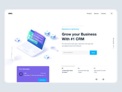 Landing Page UI website concept landing page design xd interface typogaphy salesforce crm product page product design web app website design landing page website design white ui-ux clean ux ui