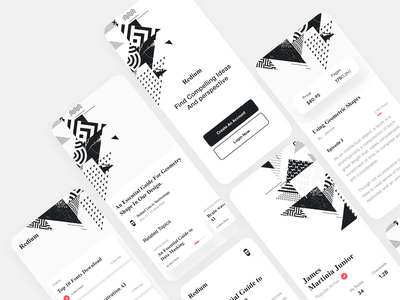 Mobile App UI user interface design dstudio xd book app pricing user profile reading app ios app white app user interface user experience branding typography design white product design ux ui clean ui-ux
