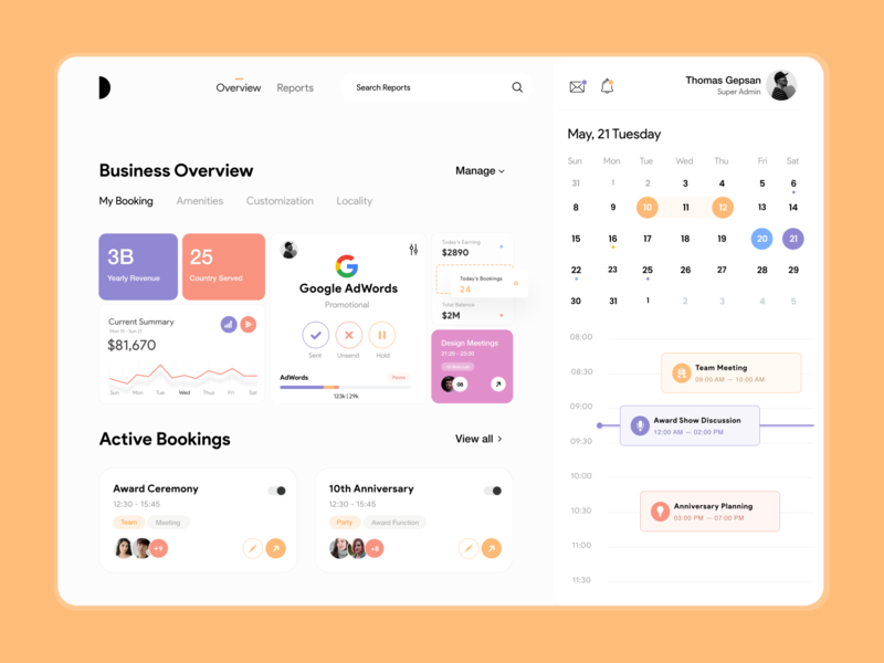 Dashboard UI stats book event event app room booking schedule app book now calendar app analytics dashboard booking app meeting app dashboard design dashboard user experience typography white product design clean ux ui-ux ui