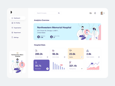 Dashboard_UI hospital dashboard hospital profile menu white dashboard template dashboard design dashboard app covid19 corona analytics chart dashboard ui dashboard user experience typography product design clean ui-ux ux ui