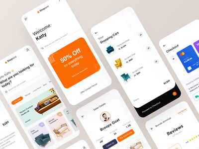 Ecommerce UI furniture store furniture payment profile card design chair online store online shop ecommerce card ui branding design user experience typography white product design ui-ux clean ux ui