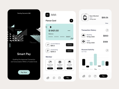 App UI ios app analytics freelancer credit card payment money transfer payment credit card card ui branding user interface user experience white typography product design ui-ux ux clean ui wallet app wallet