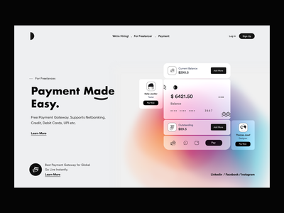 Header_UI cards ui website design card ui payment money app landing page design website concept website user interface landing page user experience typography white product design ui-ux clean ux ui
