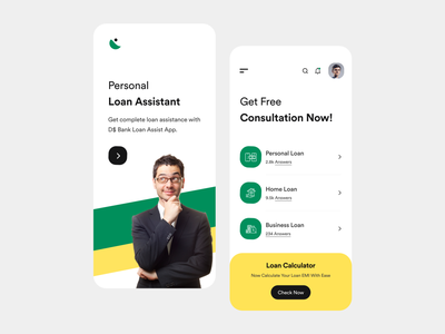 Loan Assistant app ui ux green loans brokers loans assistant bank app mobile app ui app ui ios app finance app loan user interface white user experience typography product design ui-ux clean ux ui