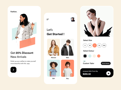 Shopping App light theme card ui apparel discount filter onboarding ui online shop shop ecommerce app ecommerce shopping app ui design ios app app ui user interface user experience product design clean ux ui