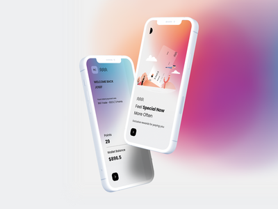 App UI mockup user experience user inteface ux ui-ux product design clean white color gradient finance app payment app onboarding creditcard money wallet app design ios app mobile app app ui
