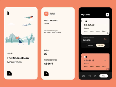 Wallet App_Interaction apple wallet ui points mobile ui app credit card wallet white typography user experience product design ui-ux art uiux ui app interaction motion graphic animation animated motion