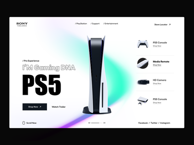 Web UI ps5 sony playstation sony website design websites shop ecommerce app ui landingpage website landing page user interface white typography user experience product design clean ui-ux ux ui