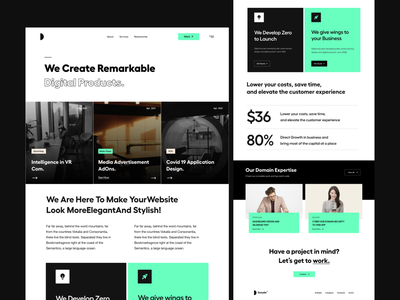 Landing UI concept website design finance green card ui design app ui feature services card ui website landing page user interface white typography user experience product design clean ui-ux ux ui