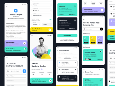 App Ui mobile application card ui app uiux mobile app design job search job app job app ui app ui mobile app website landing page user interface white typography user experience product design clean ui-ux ux ui