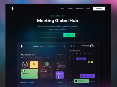 Dark Landing UI header landing pages dark mode web app black typography user experience product design clean ui-ux ux ui dark ui website concept landing page dashboard app ui dark theme night mode dark