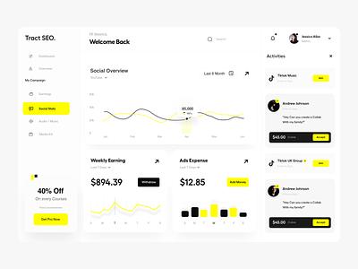 Dashboard UI branding design typography user experience clean product design ui-ux ux ui application web app analytics dashbord design dashboard