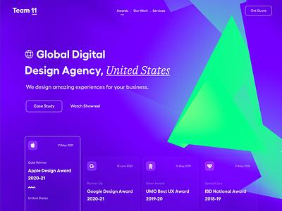 Agency Website saas menu awards color gradient product website clean typography user experience product design ui-ux ux ui hero banner header website concept website landing page landing