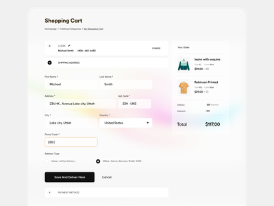 Checkout ecommerce design typography clean user experience product design ui-ux ux ui payment checkout page checkout order now cart add to cart online shopping landing page website