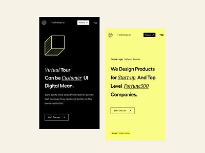 Responsive UI menu header branding illustration design typography clean user experience product design ui-ux ux ui landing page mobile website responsive mobile website app card