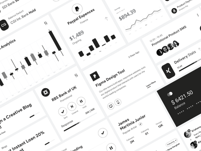 Card UI design typography clean user experience product design ui-ux ux ui white ui black and white analytics element dashboard app ui card ui
