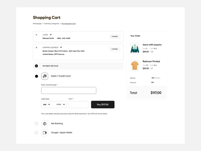 Web UI buy online shopping clean website white design typography clean user experience product design buy now add address payment landing page ecommerce add to cart website ui-ux ux ui