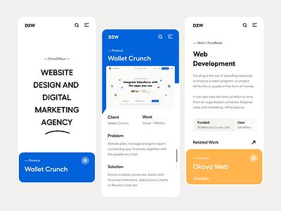 Web / Mobile UI clean design branding design typography clean user experience product design ui-ux ux ui mobile view website design landing page website responsive