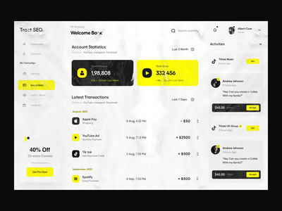 Dashboard typography clean user experience product design ui-ux ux ui followers balance credit earning profile management dashboard ui analytics social media dashboard