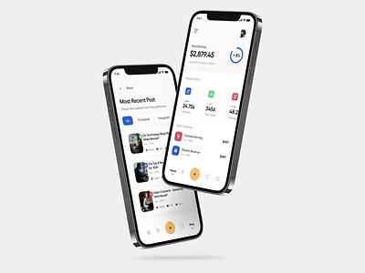 App UI adwards social media design typography clean user experience product design ui-ux ux ui social app ads seo mobile app web app ios app app ui app
