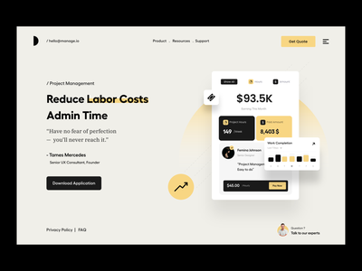 Landing page agency services feature payment project management seo design typography clean user experience product design ui-ux ux ui menu banner hero header landing page website