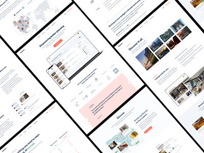 Website UI user experience product design ui-ux ux ui about us pricing services features header landing page design ageny clean website white website concept clients property space landing page website
