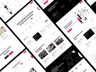 Website Design websites web app website concept branding corporate design web layout xd design black web design white website visual design website xd ui-ux design white clean ux ui