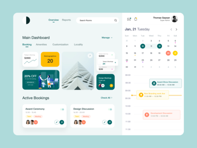 Dashboard Meeting light theme green meeting app typography product design web application dashboard app booking app card ui calendar meeting analytics dashboard clean ui white design ui-ux clean ux ui