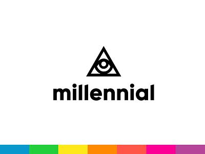 Millennial :: Logo & Branding millennial vitamin d vitamin health neon print packaging rainbow eye triangle mark logo branding