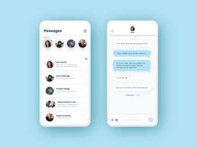Direct Message daily ui 013 conversation text direct message message design app product design daily ui challenge daily ui ui