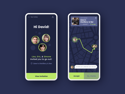 Location Tracker :: Let's Hang tracking daily ui 020 location tracker locator location map adobe xd design adobexd prototype dailyui app product design daily ui challenge daily ui ui