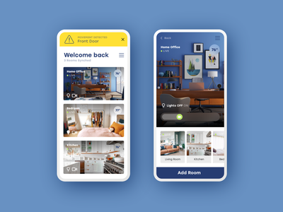 Home Monitoring :: Dashboard daily ui 021 security camera dashboard ui security security system home monitoring monitor dashboard design adobe xd adobexd prototype dailyui app product design daily ui challenge daily ui ui
